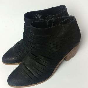 Lucky black suede ankle boots / booties
